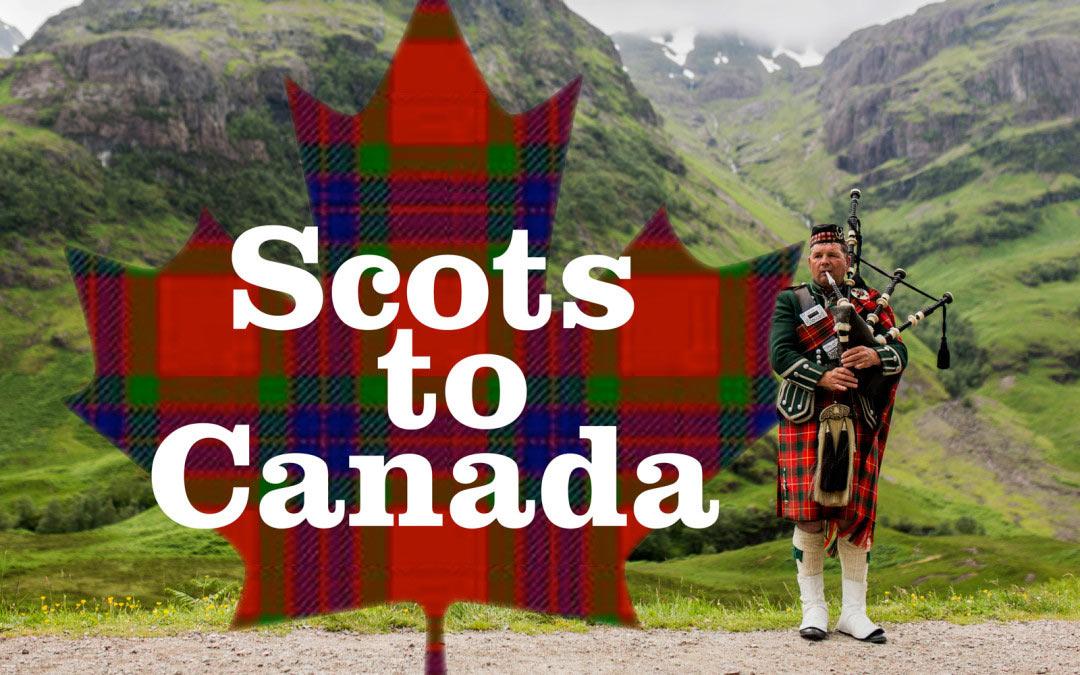 Scots to Canada cover image - Piper in Scotland