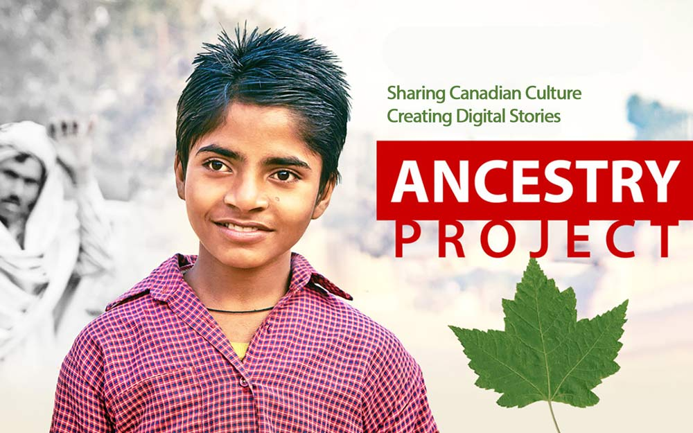 Ancestry Project title card with logo